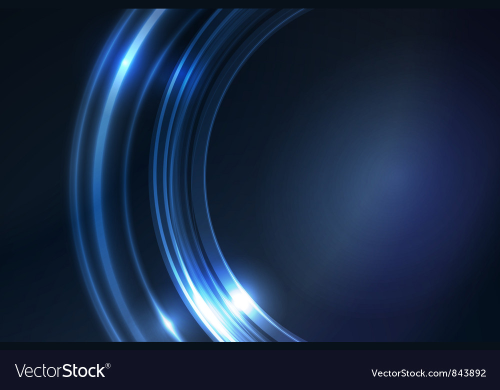 Blue glowing frame vector image