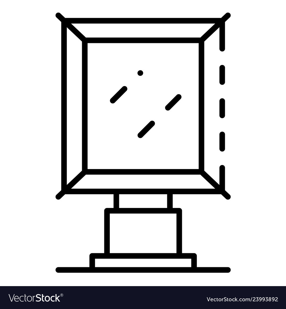 City light banner icon outline style