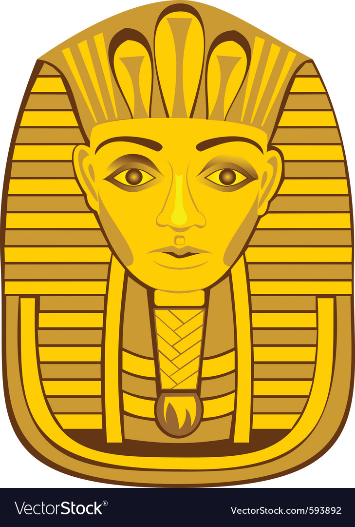 Golden pharaoh vector image