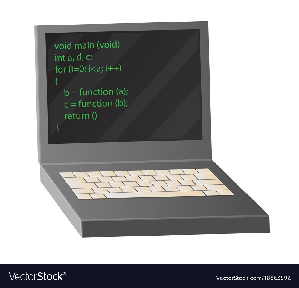 Open notebook depicting coding process