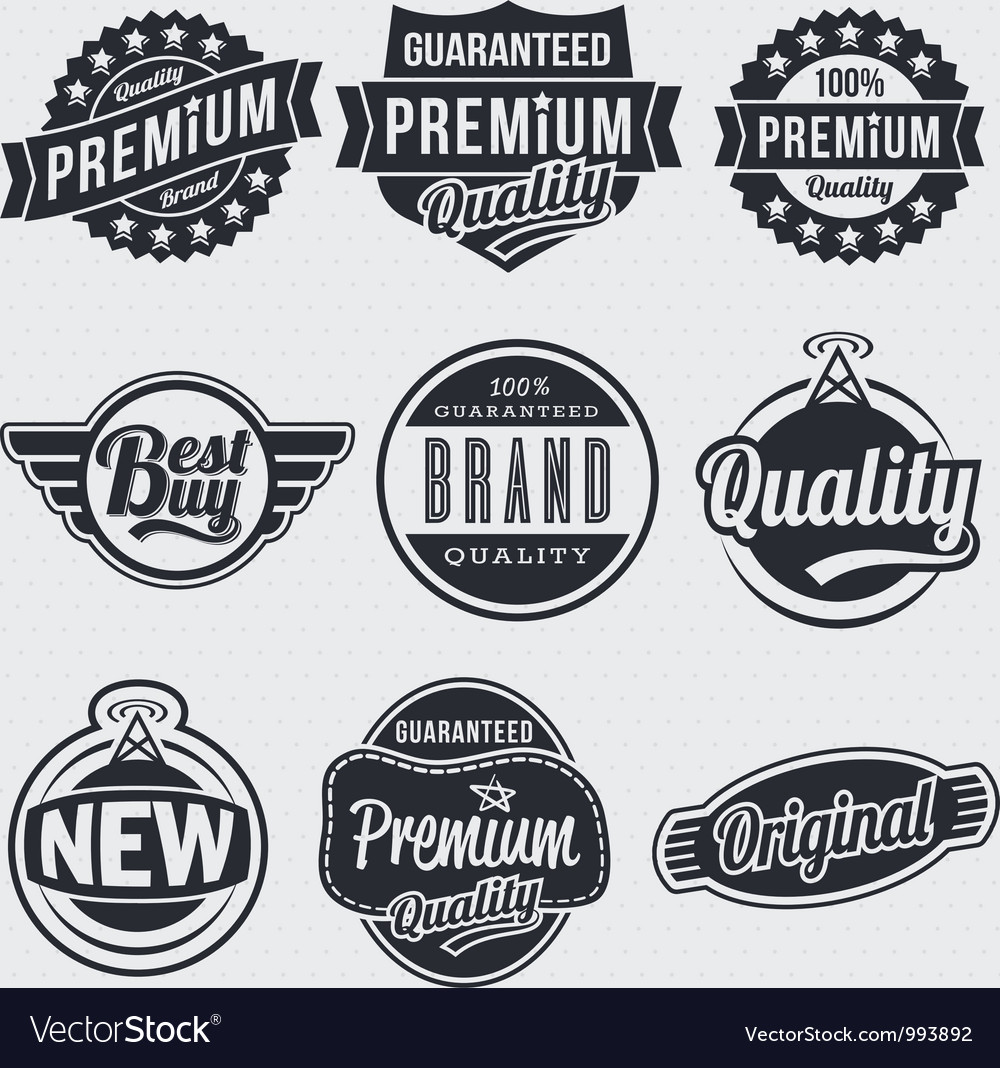 Retro vintage labels Royalty Free Vector Image