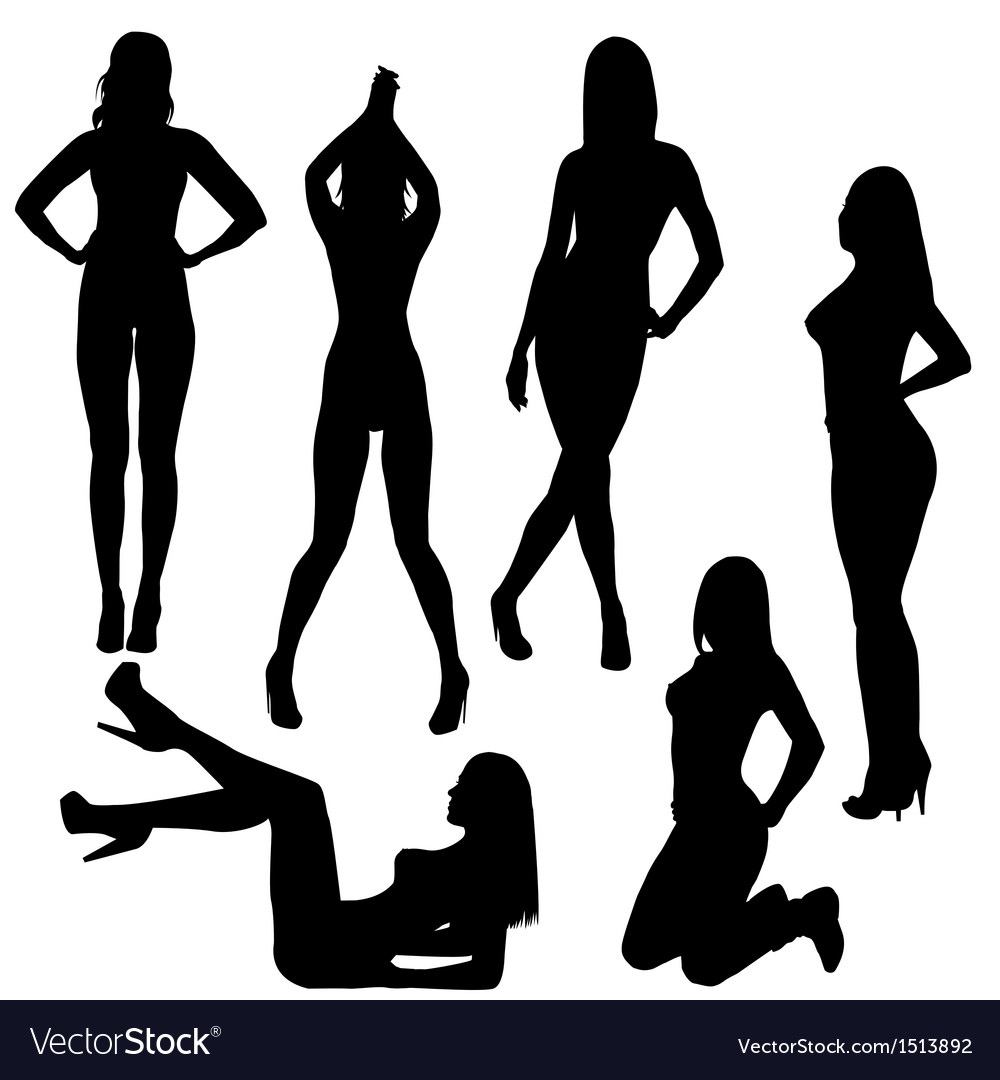 Set of sexy silhouettes