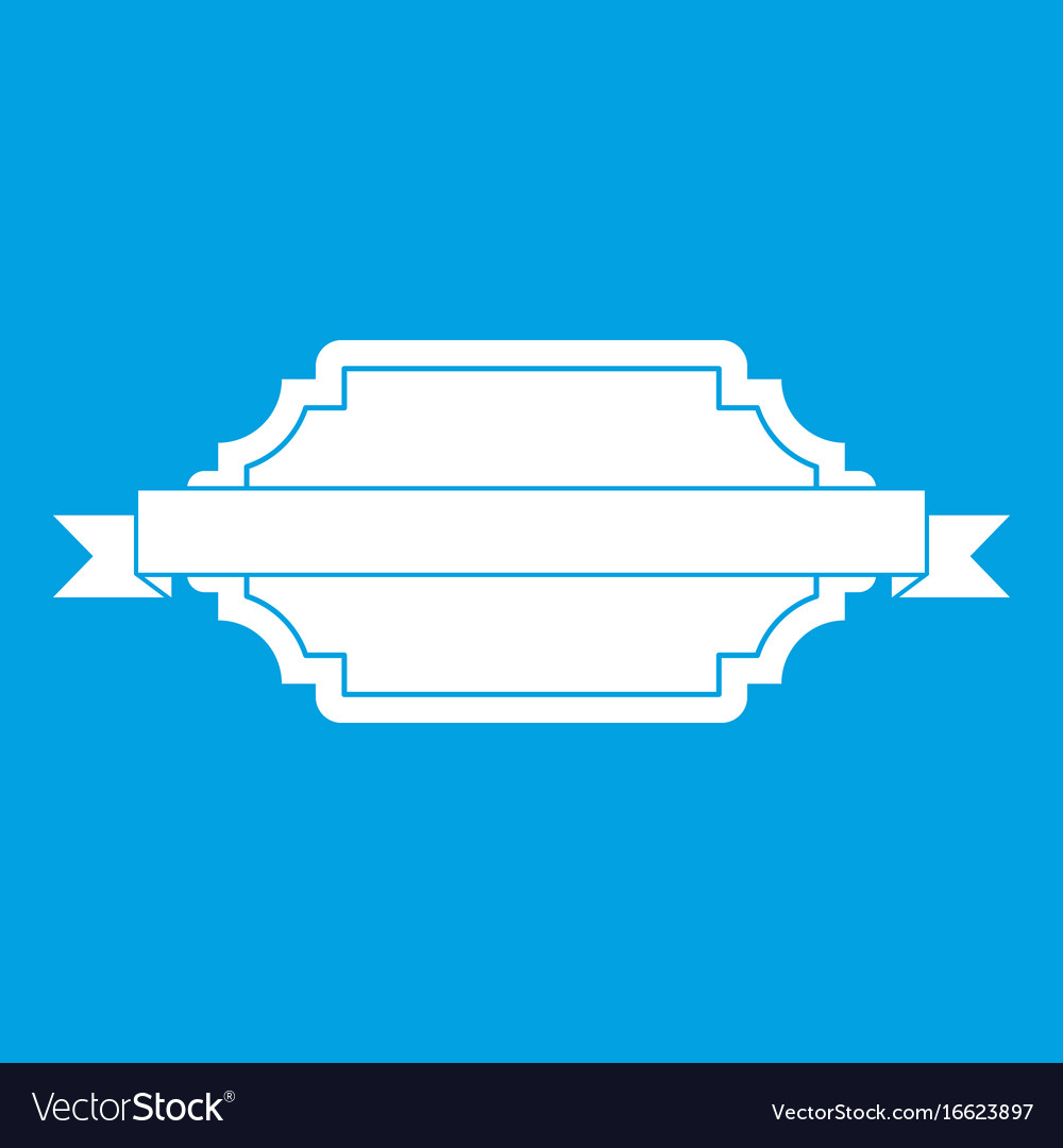 Banner or label icon white vector image