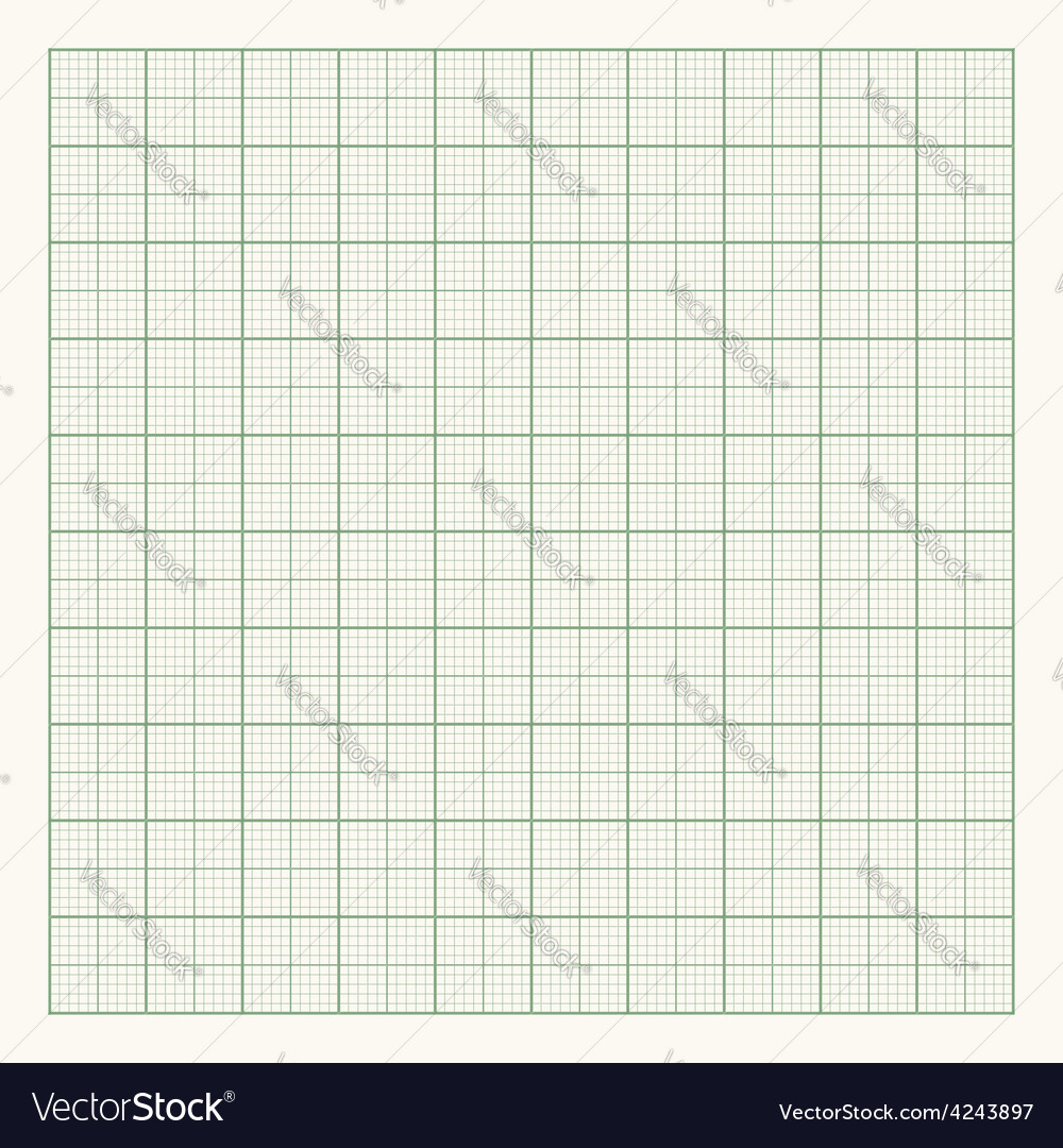 Green graph paper on light background