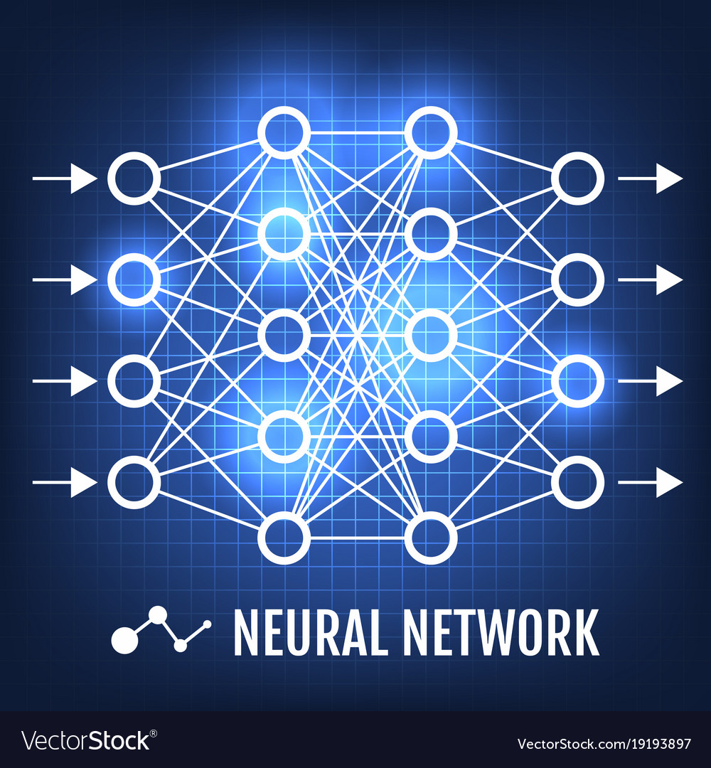 Neural Network Machine Learning Concept Royalty Free Vector