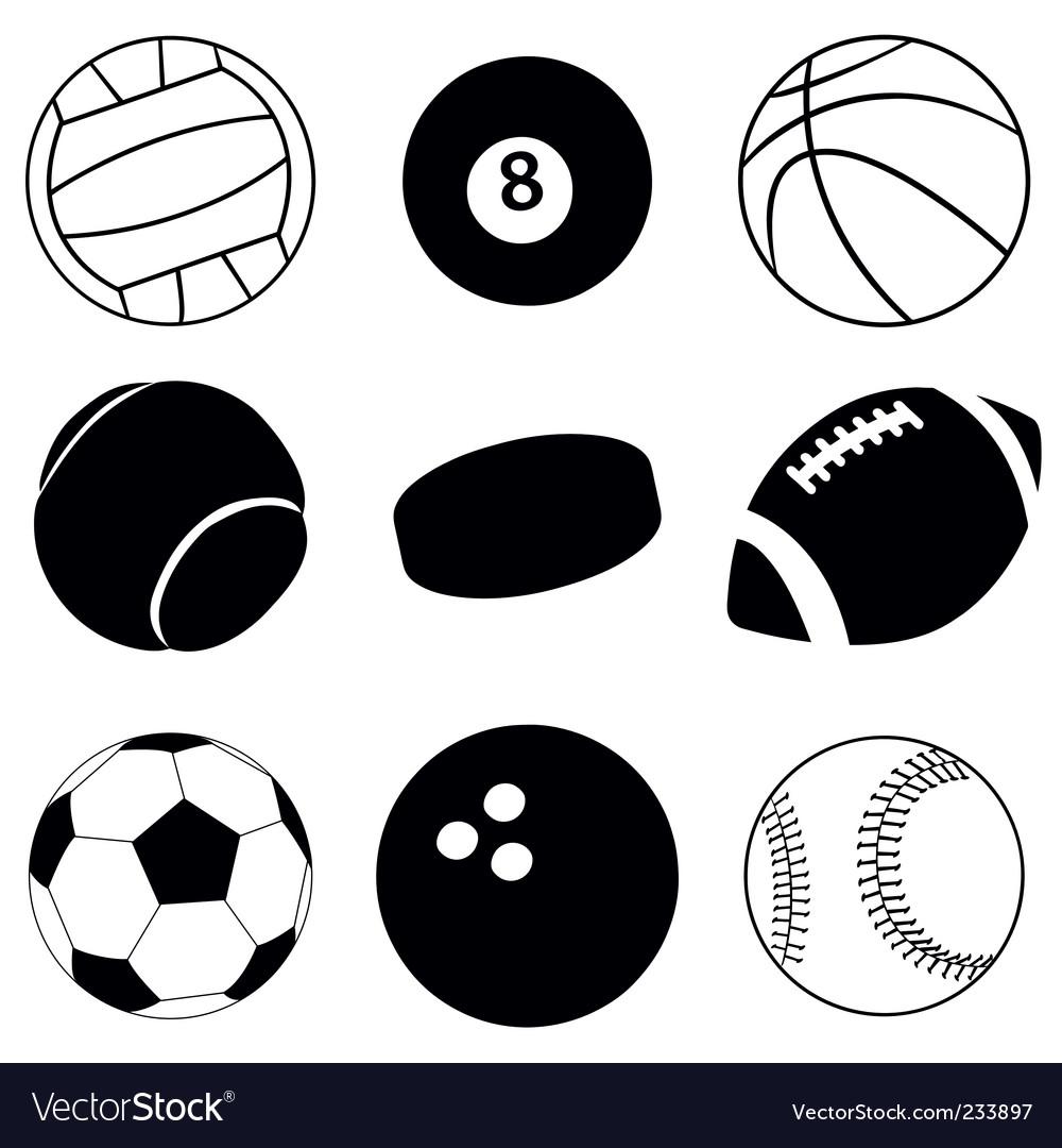 Sport Balls Royalty Free Vector Image Vectorstock