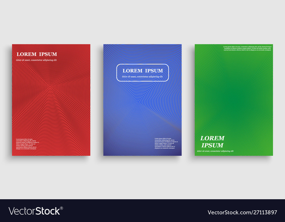 Template for cover design