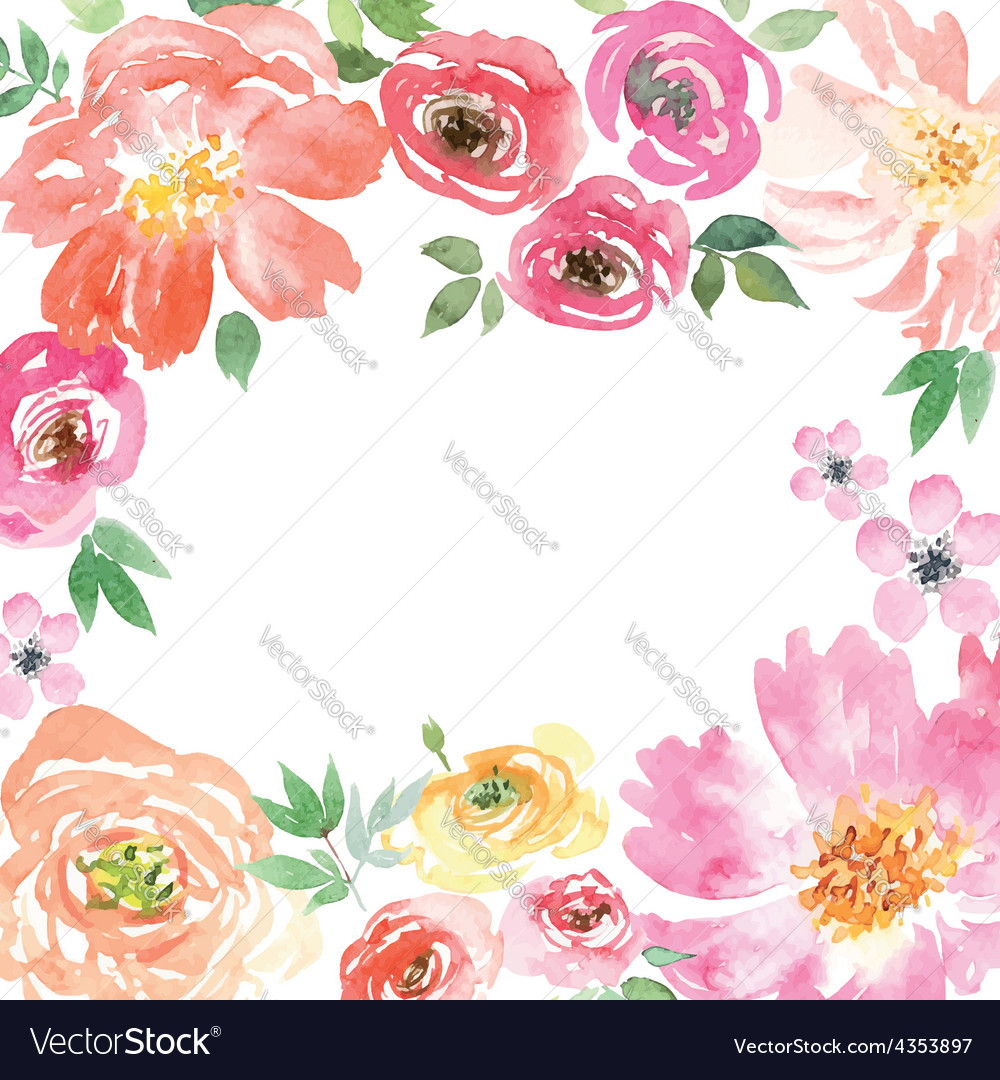 Watercolor spring flowers royalty free vector image watercolor spring flowers vector image mightylinksfo