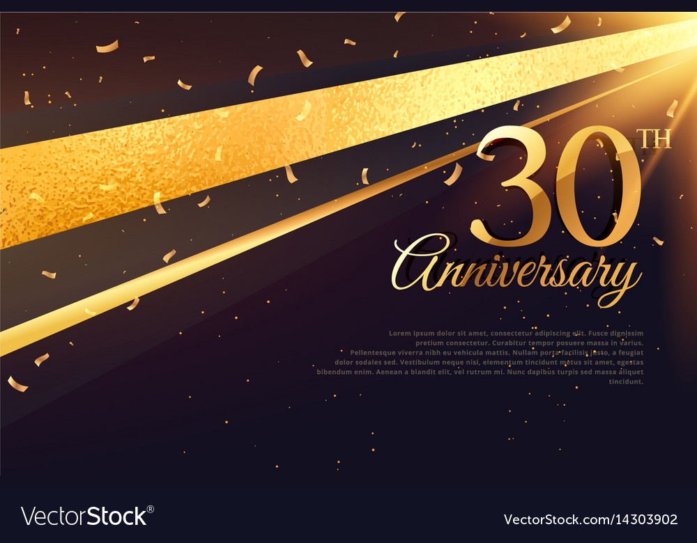 30th anniversary celebration card template