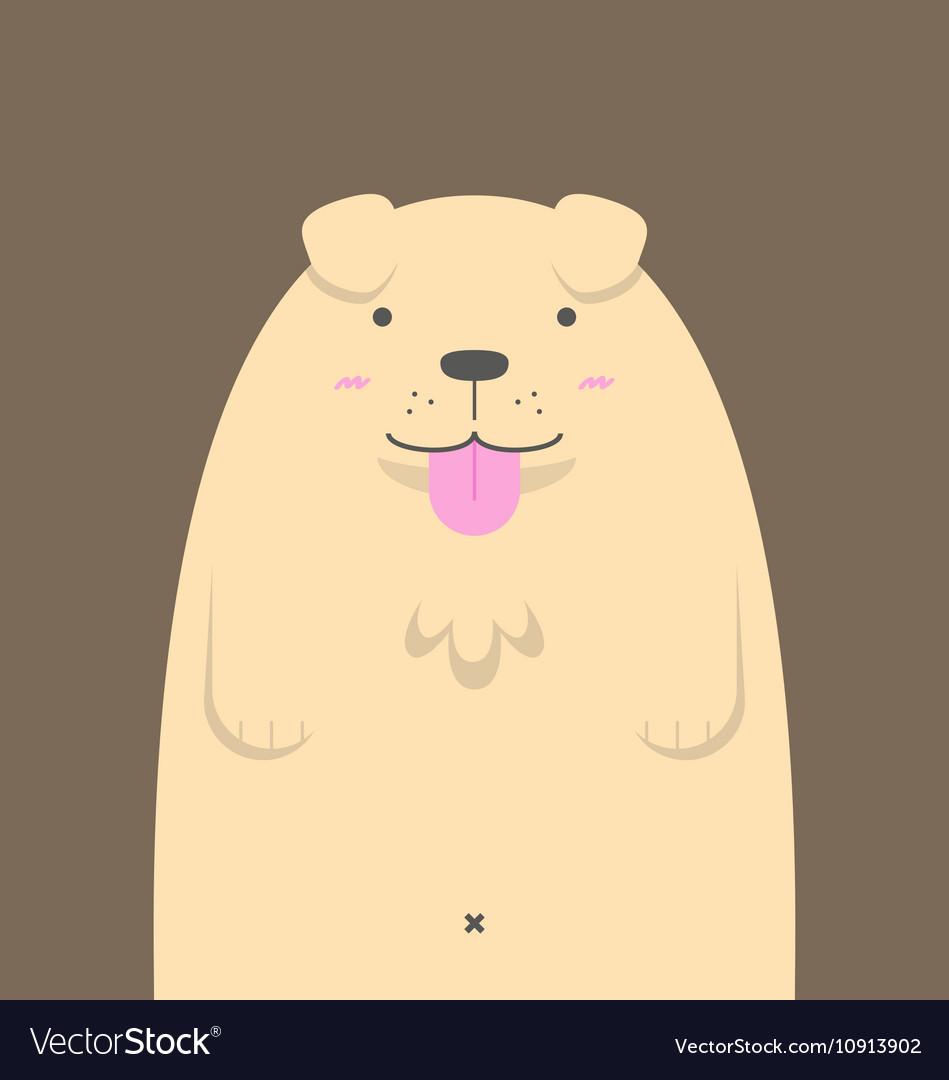 Cute big fat Golden Retriever dog