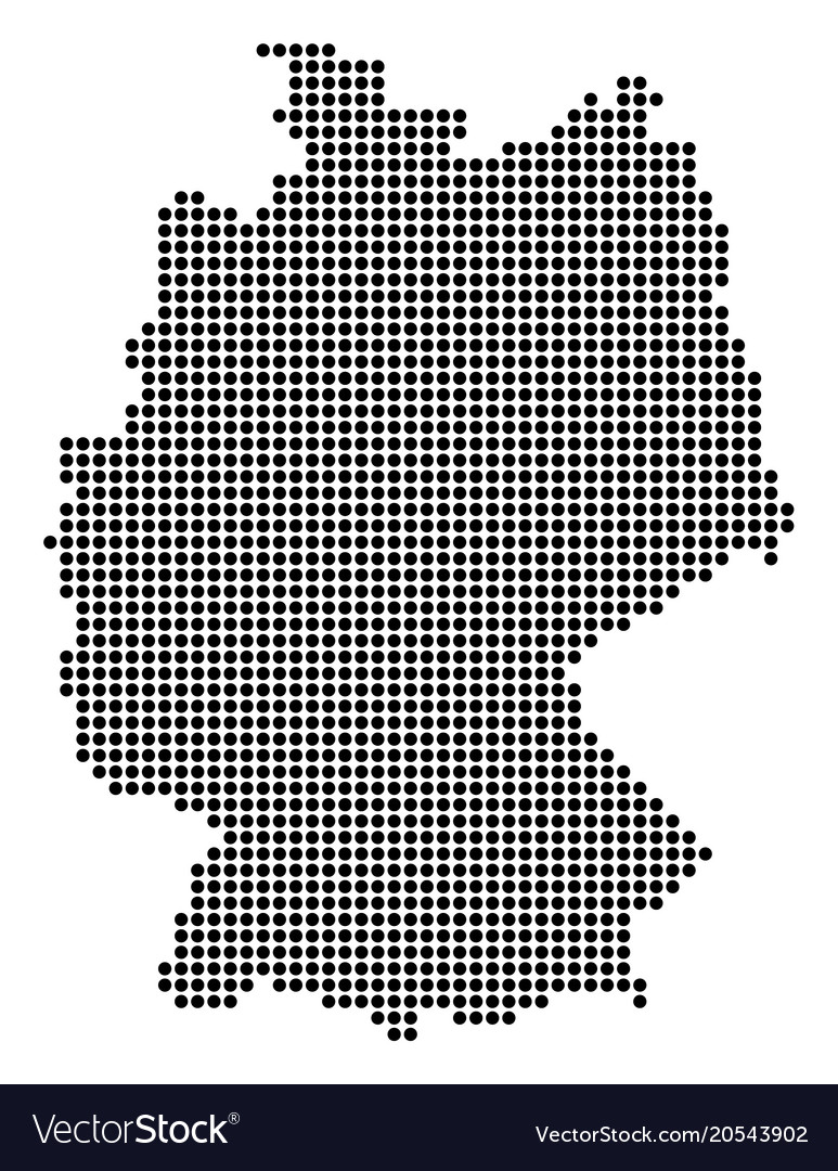 Dotted pixel germany map Royalty Free Vector Image