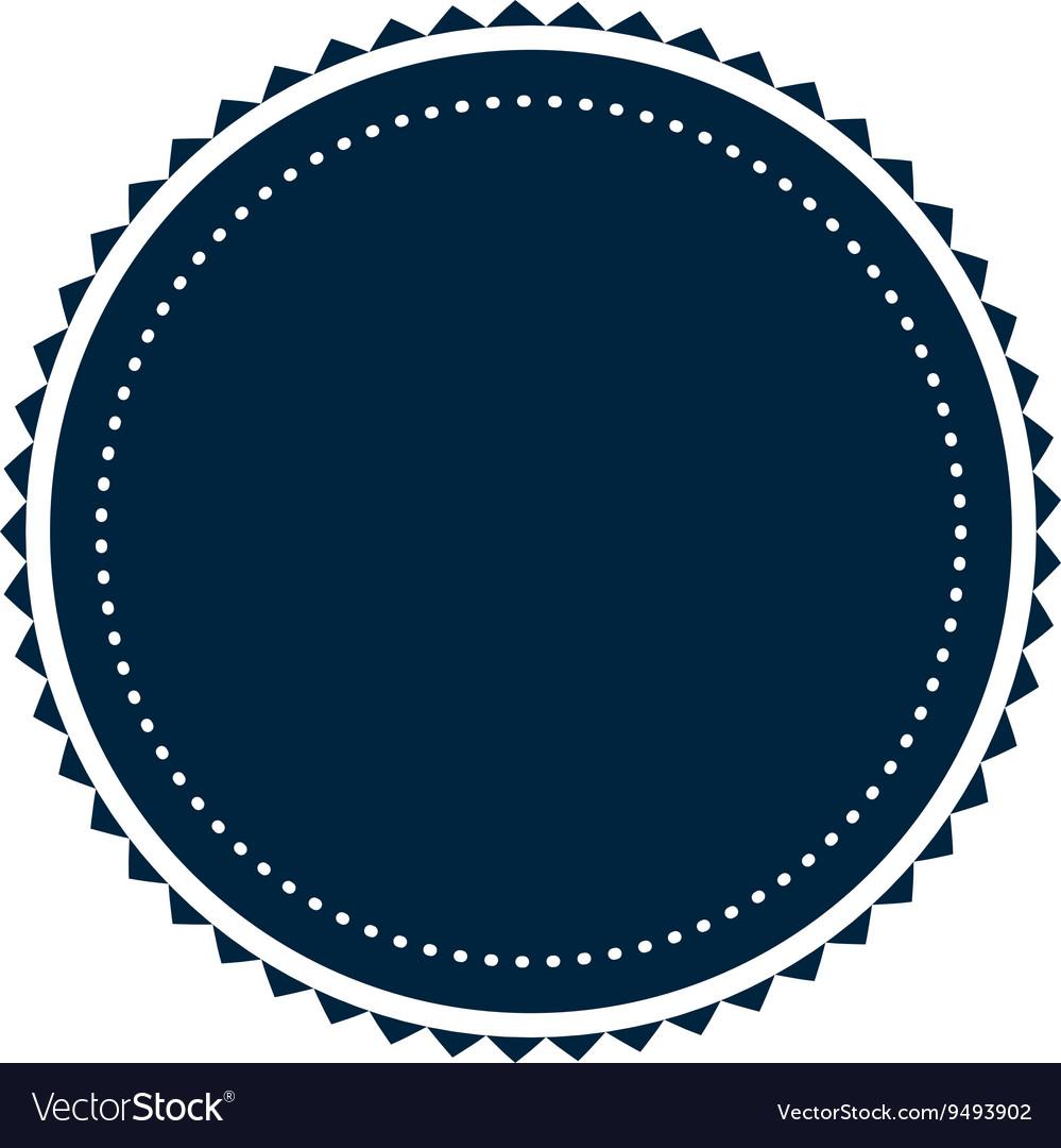 Round badge icon vector image