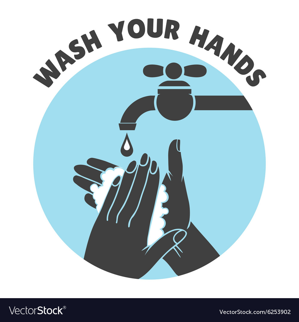 wash your hands or safe hand washing symbol vector image rh vectorstock com hand washing vector free hand washing icon vector