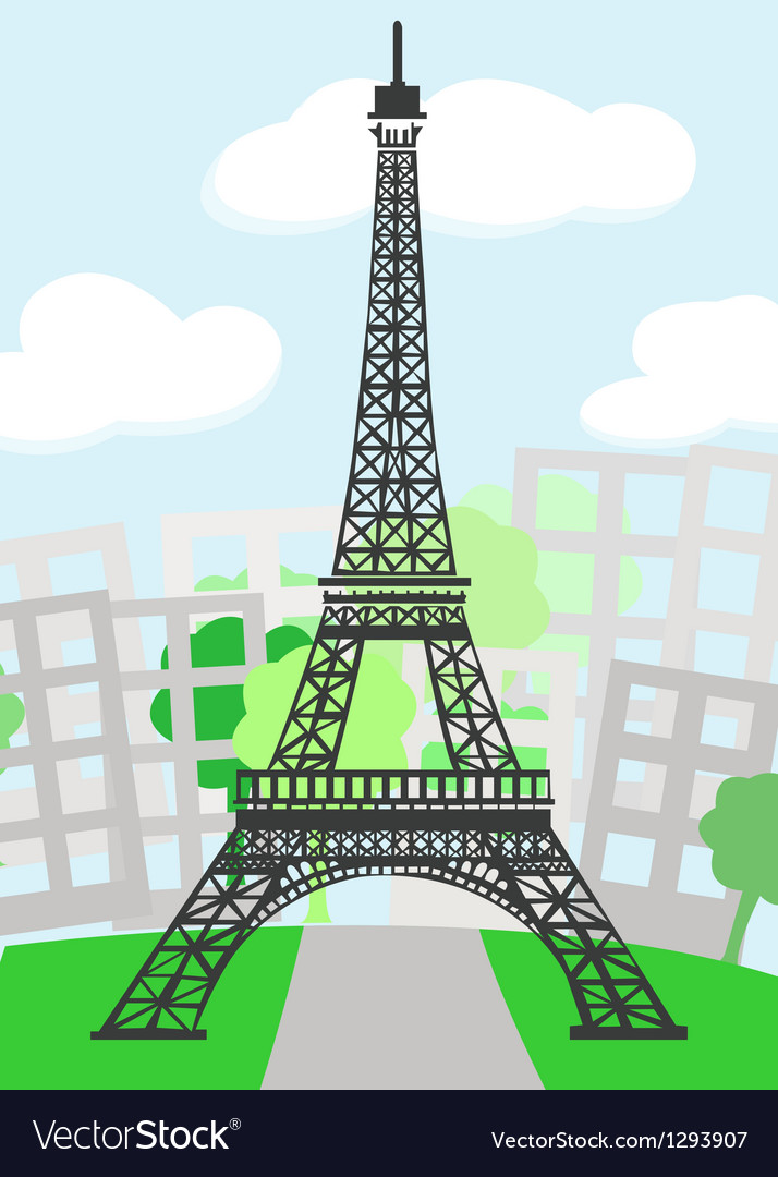 Cartoon Paris vector image