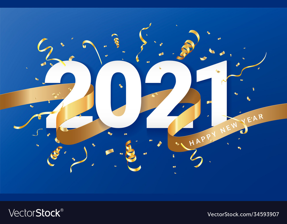 Happy new 2021 year festive background card