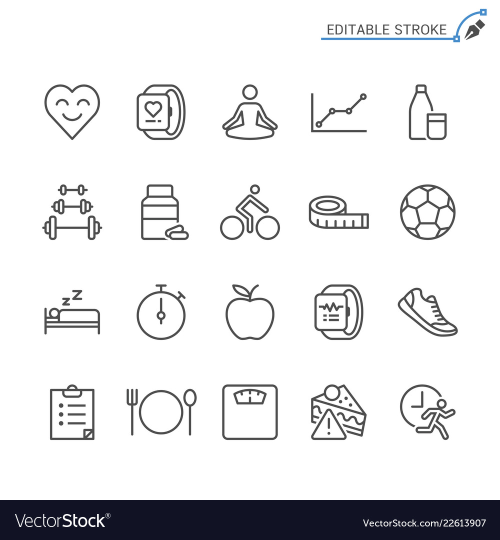 Healthcare line icons editable stroke