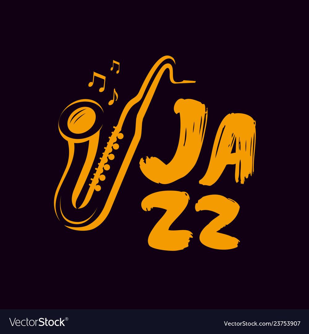 Jazz logo or label live music saxophone blues
