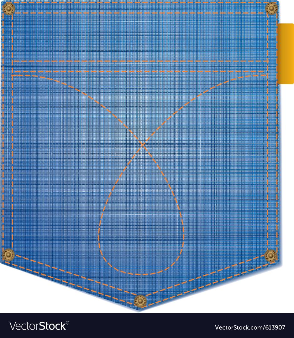 Jean pocket vector image