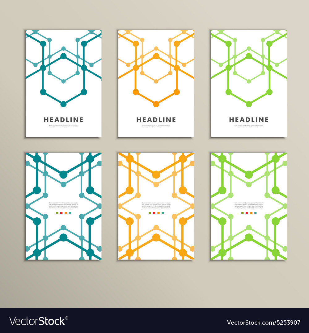 Set of stylish modern line textures vector image