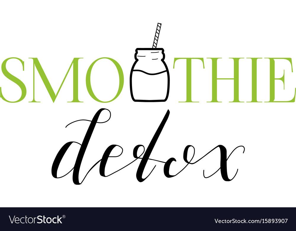 Smoothie detox emblem