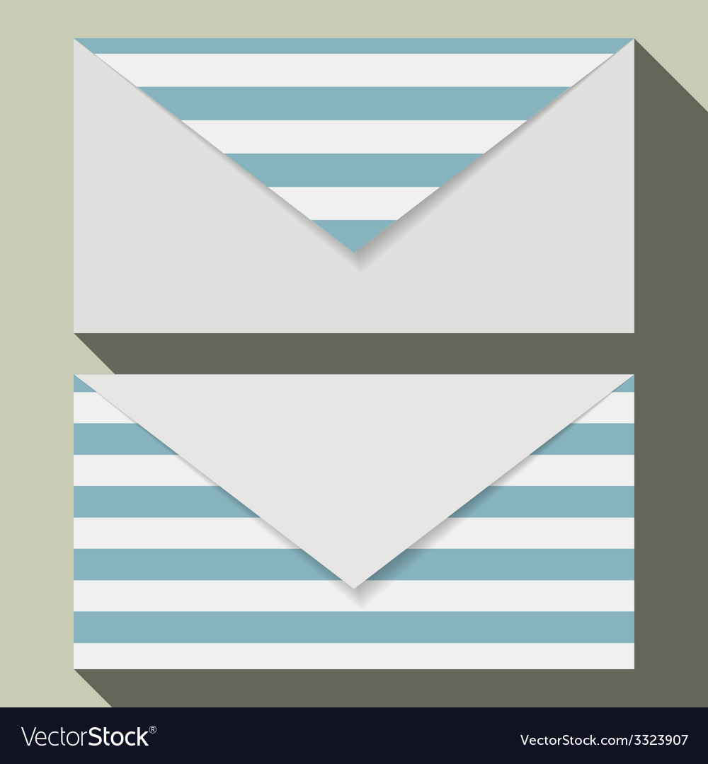 striped business card set royalty free vector image