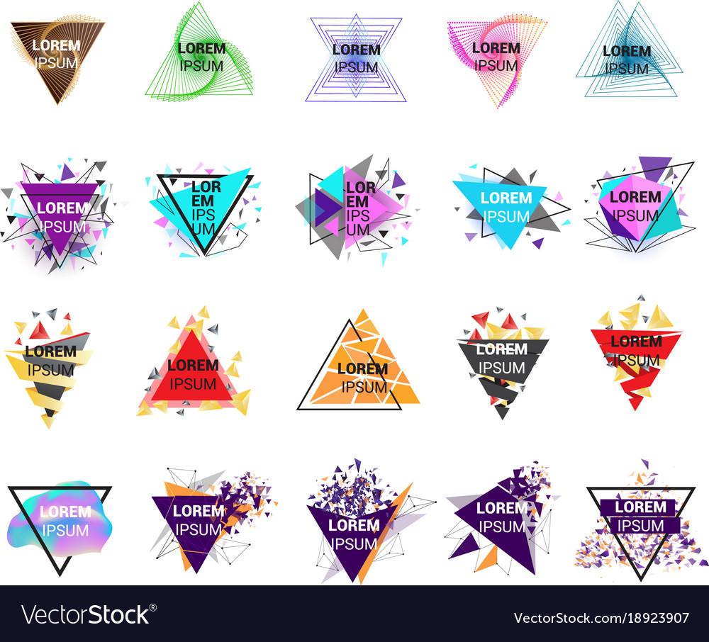 Triangle logo geometry logotype abstract