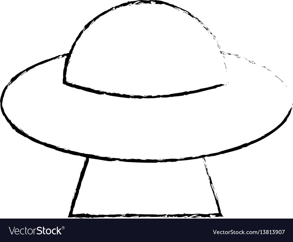Ufo invasion futuristic image sketch