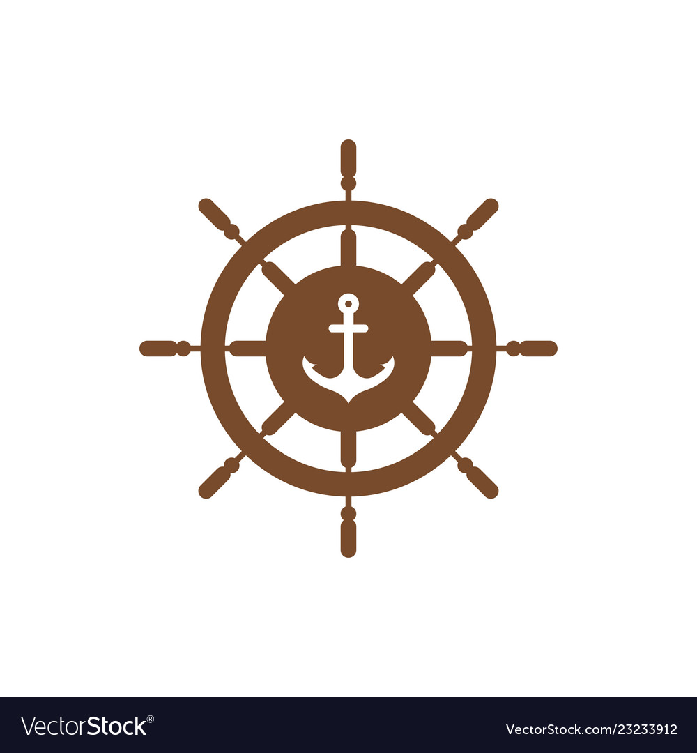 Anchor wheel graphic design template