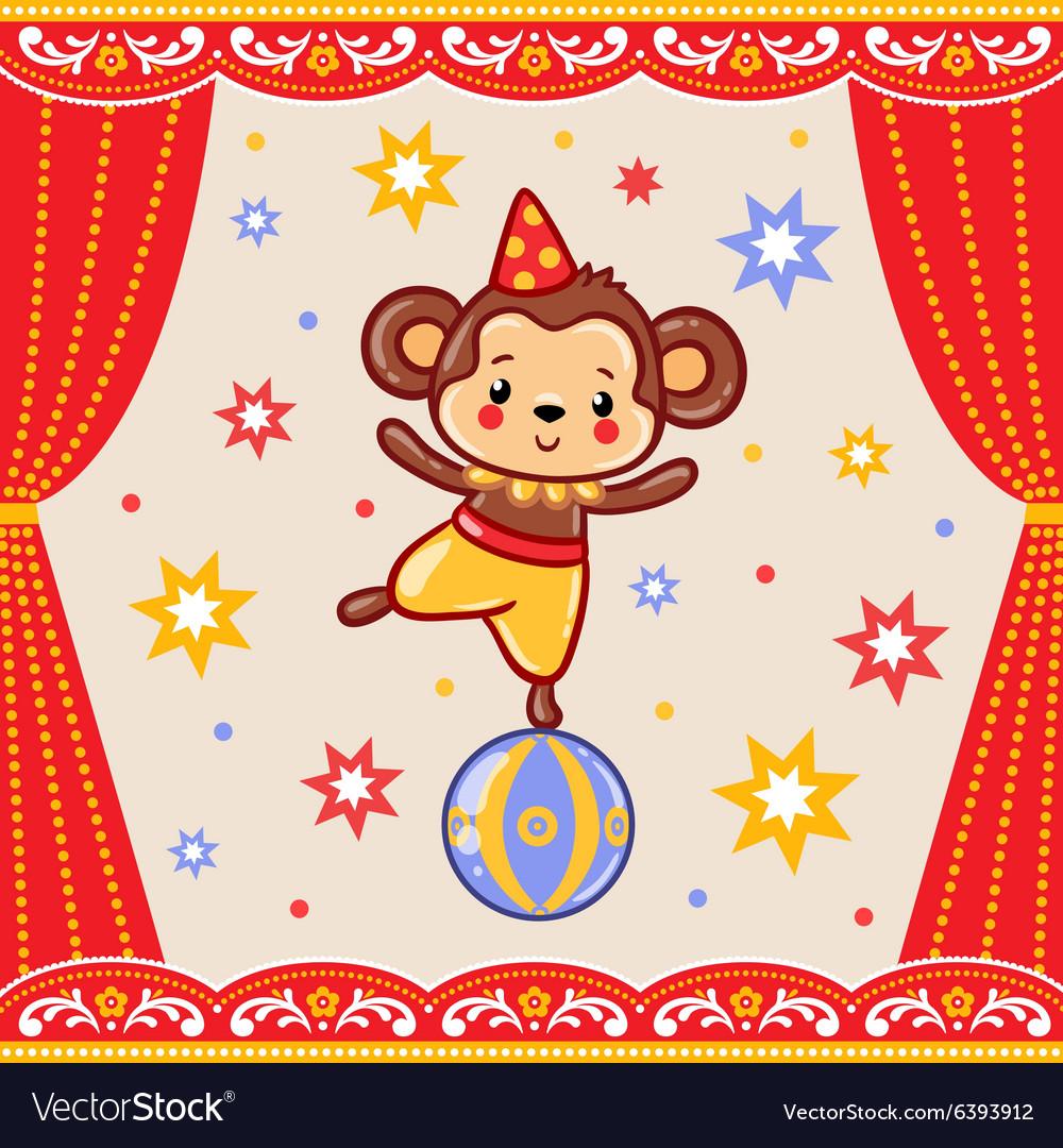 Circus happy birthday card design