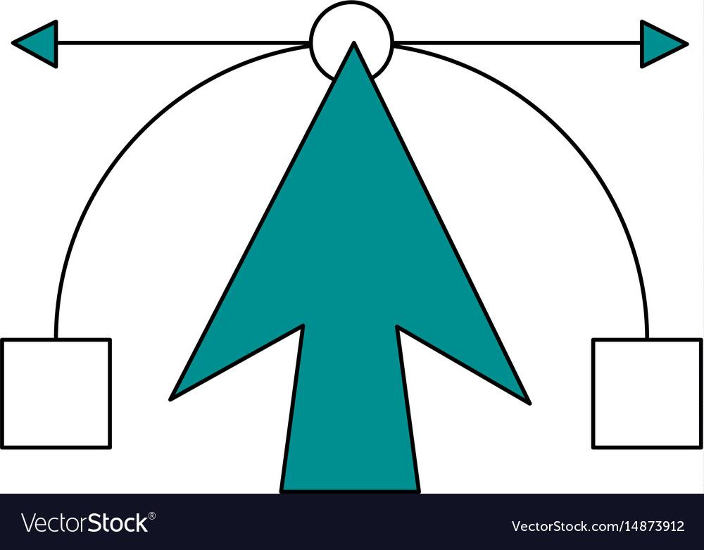 Color silhouette image cartoon geometric figure