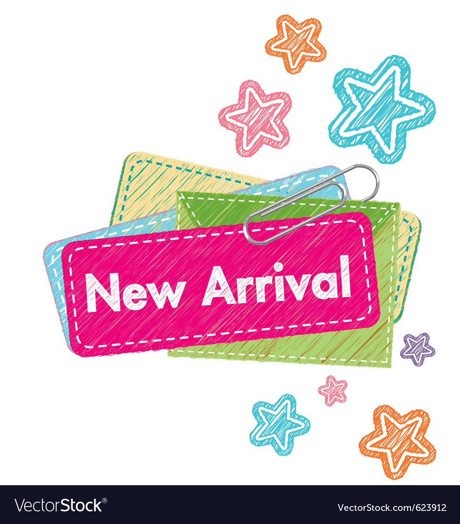 New arrival vector image
