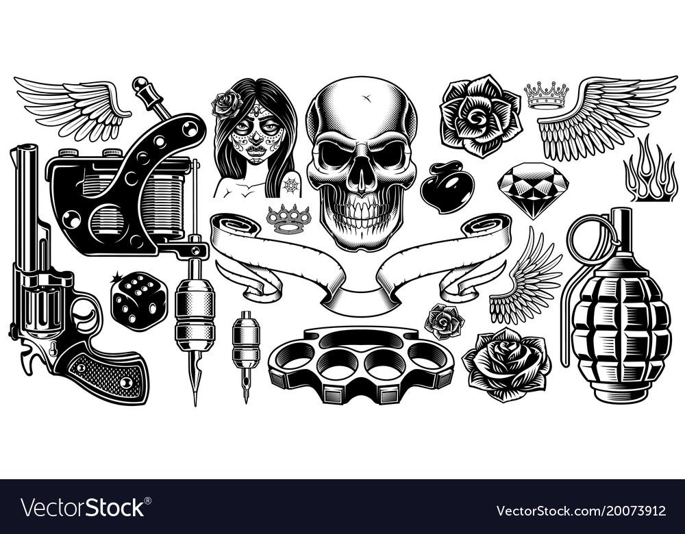 Set tattoo art