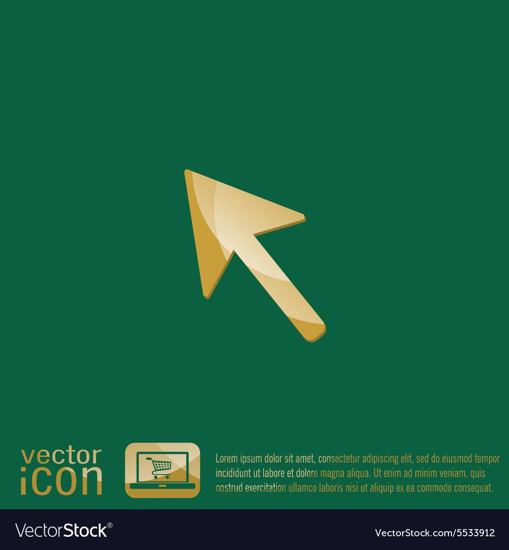 Web arrow symbol cursor icon