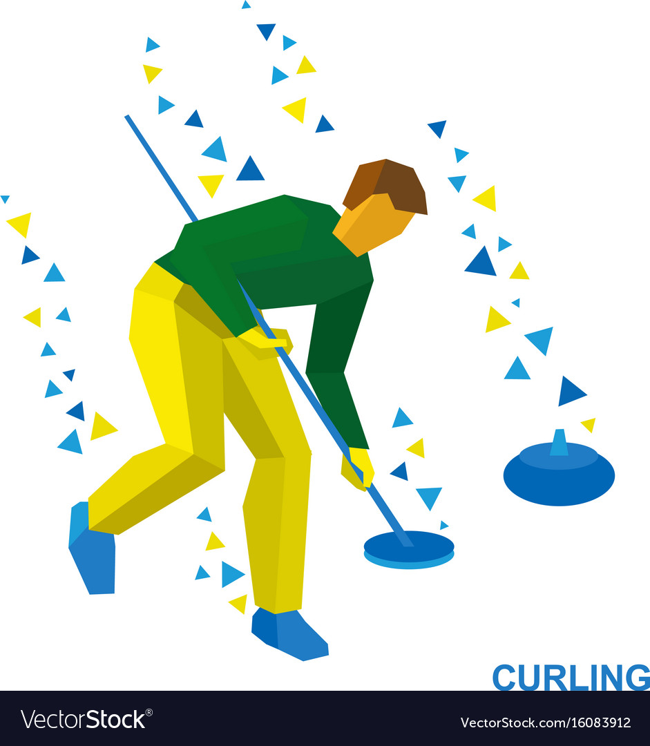 Winter sports - curling player clear way to stone