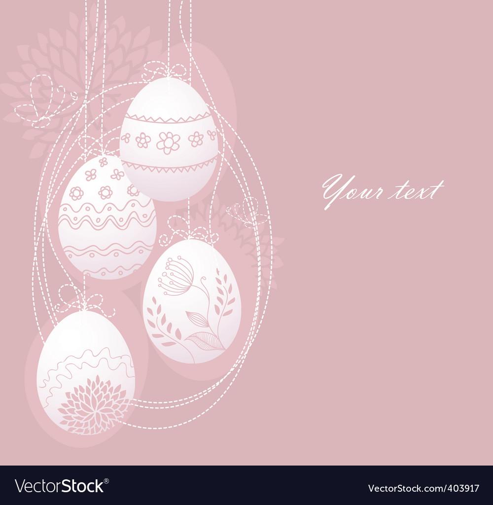 Eggs back vector image