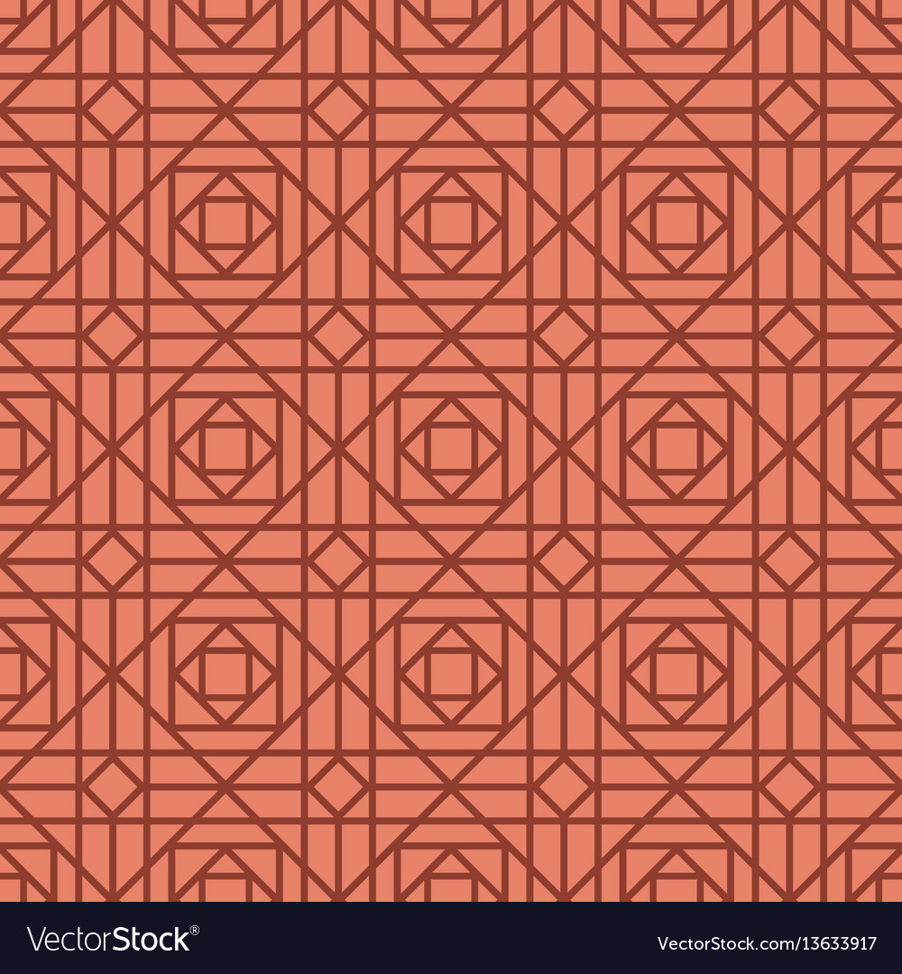 Geometric linear red retro pattern