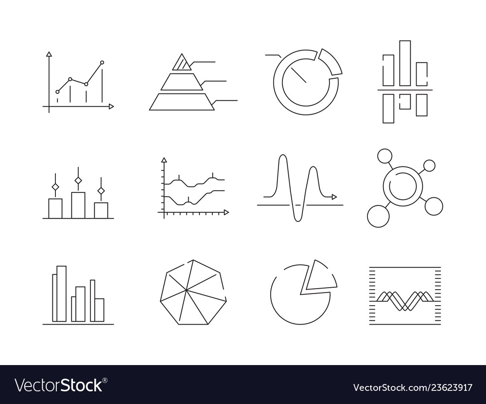 Graphs charts icons business statistics graphic