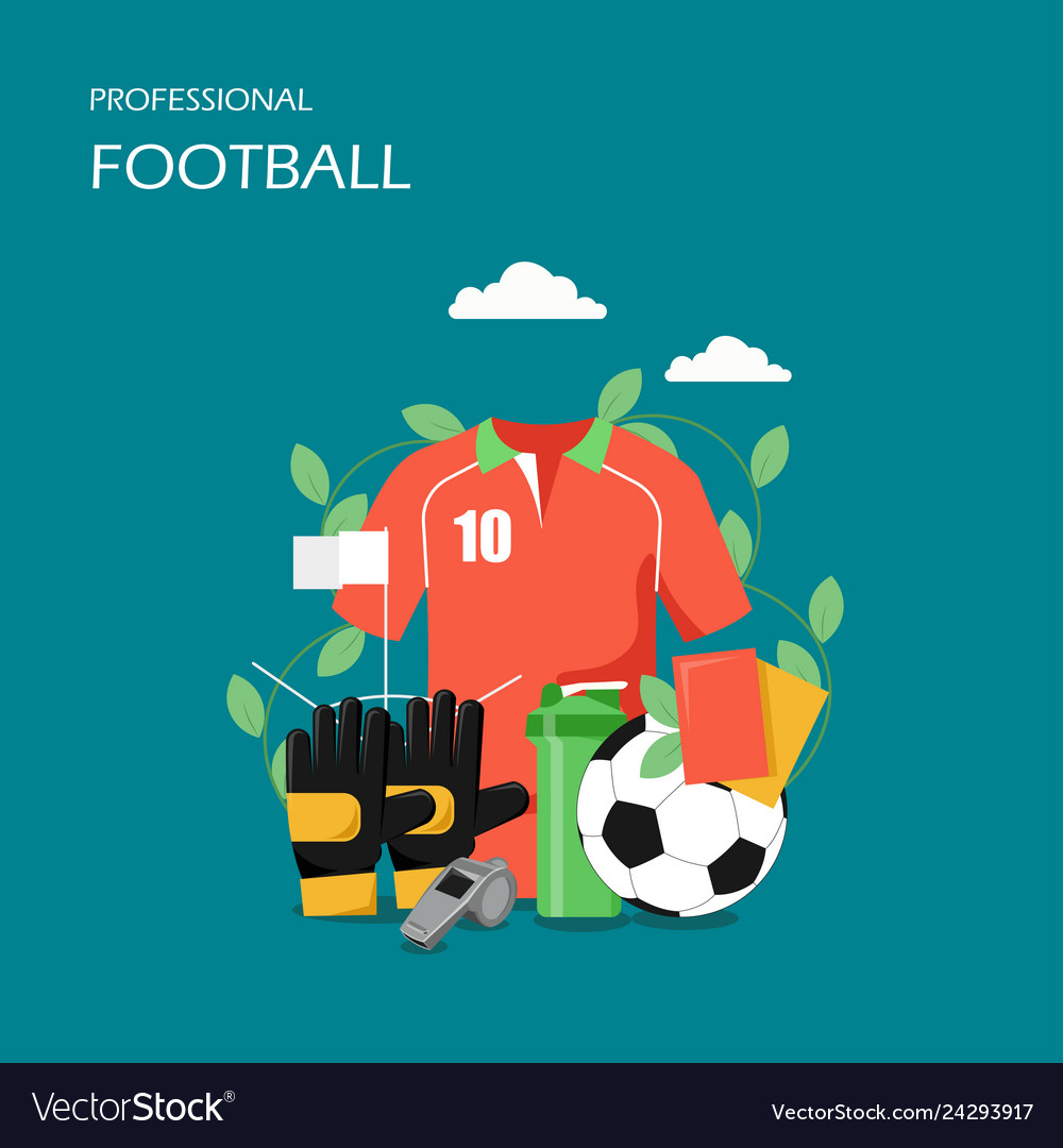 Professional football flat style design