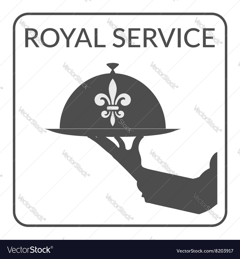 Royal service sign vector image