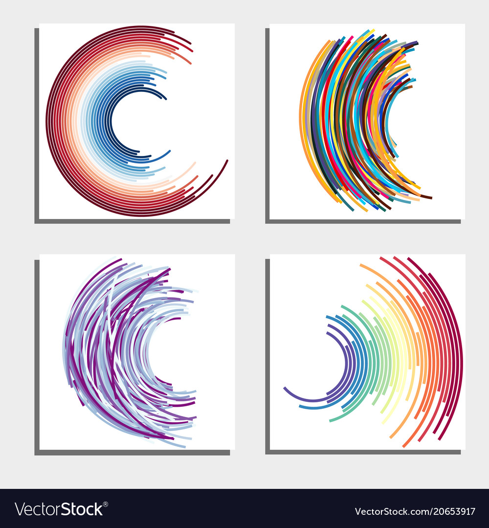 Set of four beautiful abstract backgrounds