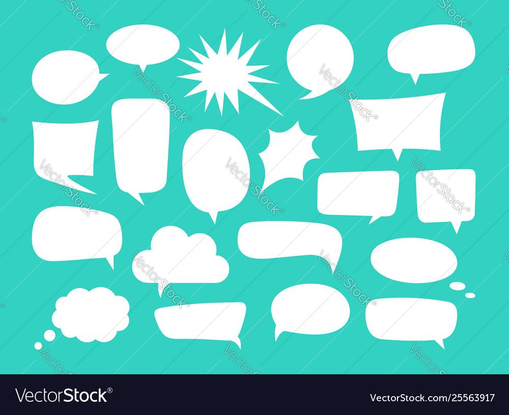 Set speech bubbles and dialog balloons