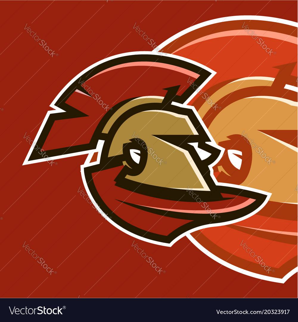 Sports logo spartan warrior