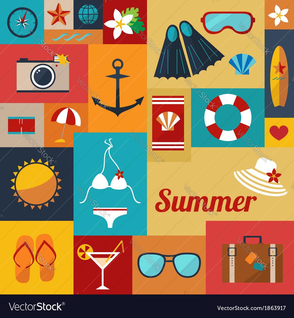 Summer flat background