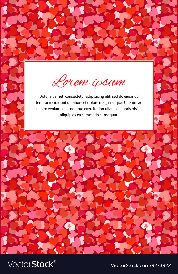 Abstract background with many little red hearts