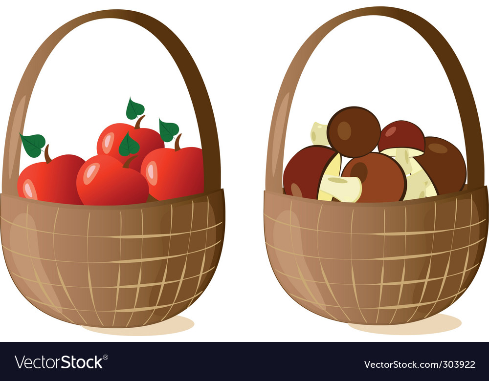 Baskets filled