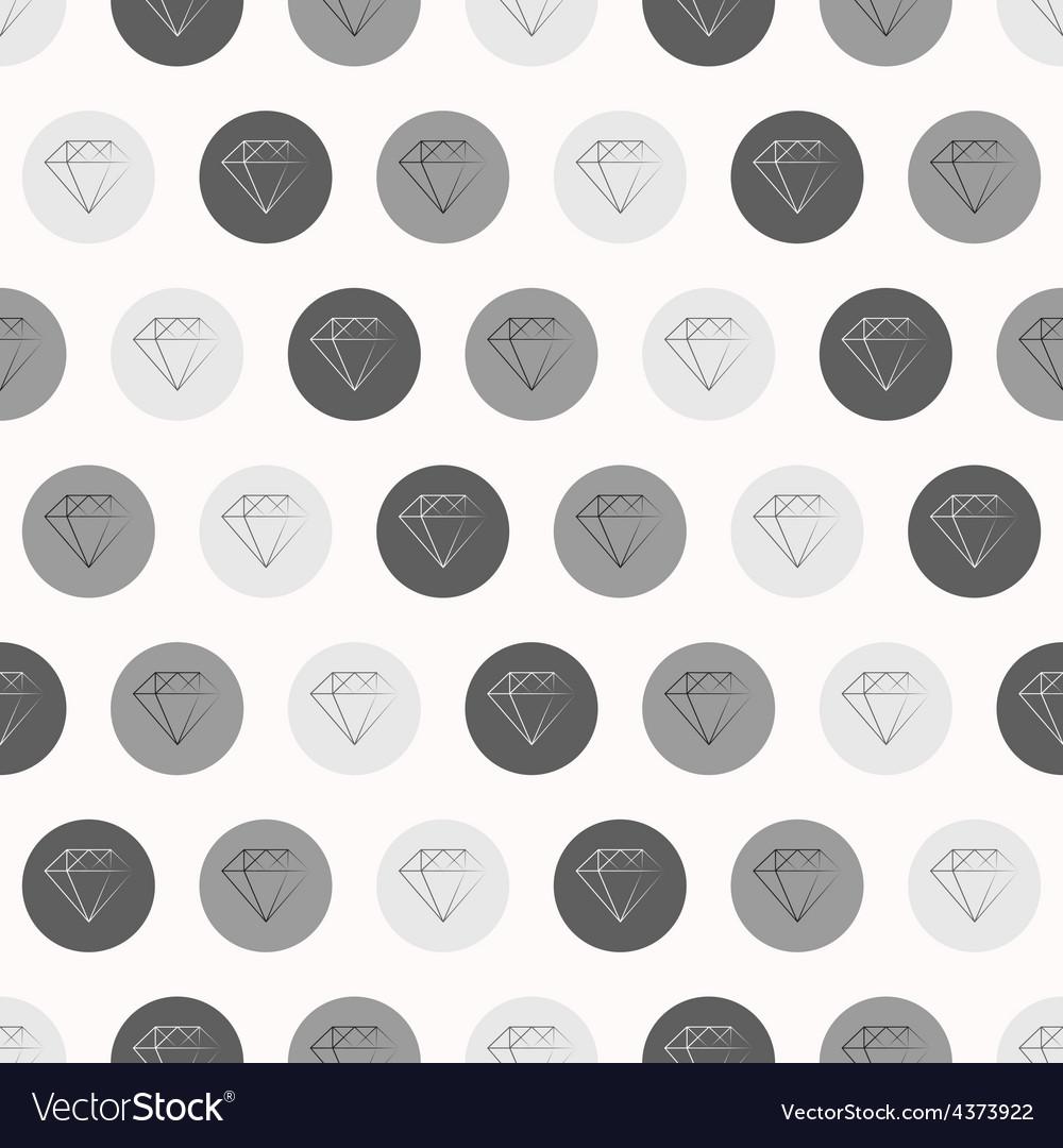 Hand Drawn Diamonds with Circles Seamless Pattern