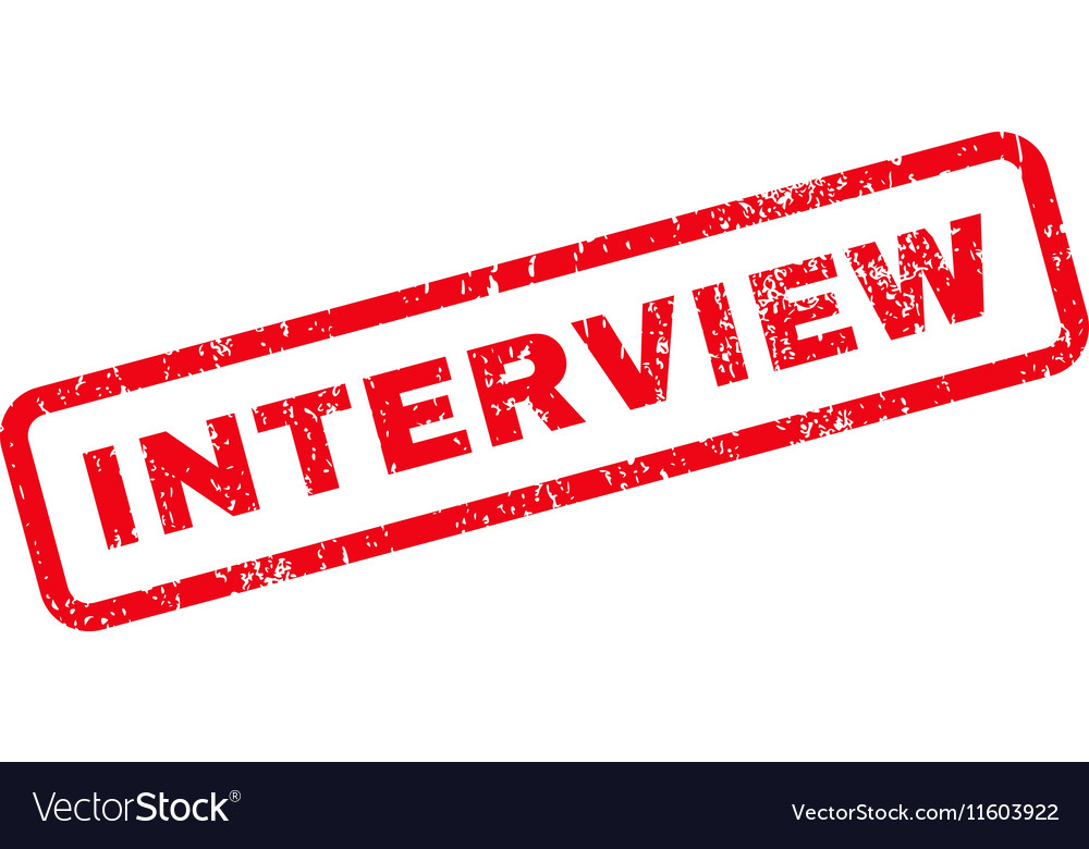 Interview Text Rubber Stamp vector image