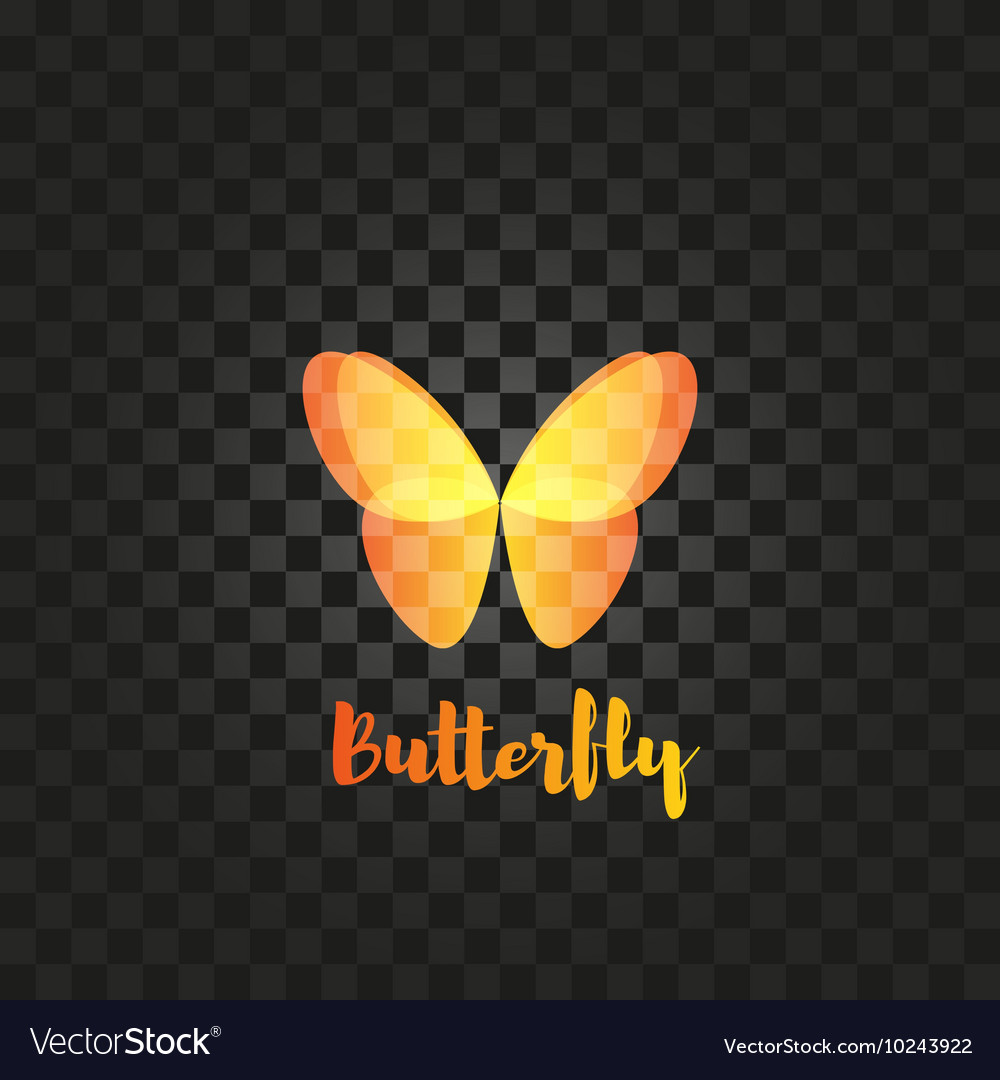 Isolated orange butterfly logo Insects
