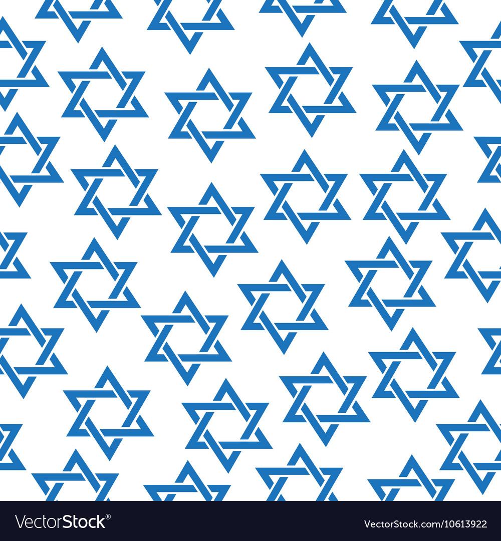 Seamless pattern of the Star of David Simfol