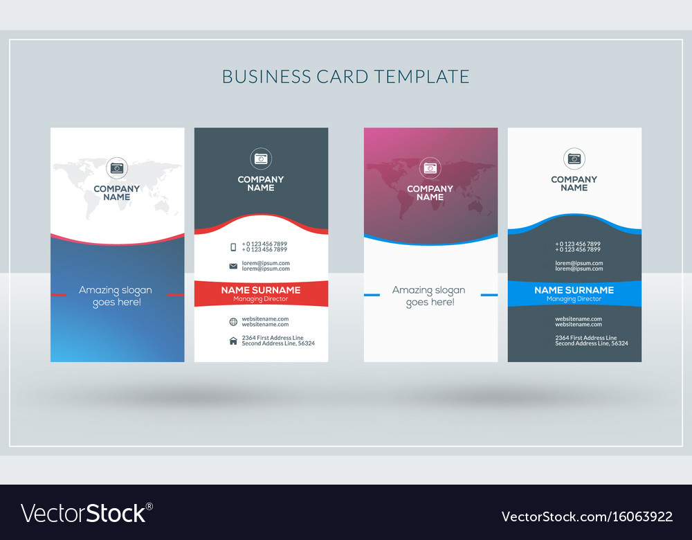 Vertical double-sided creative business card